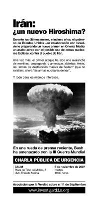 Acude: Martes 6 de Noviembre, Charla Pública sobre Irán en el CAUM de Madrid.