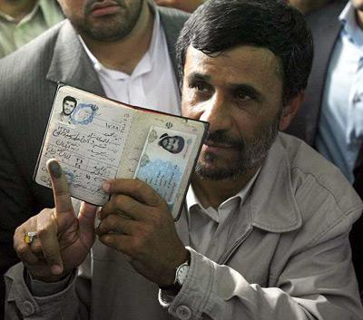 Los primeros datos oficiales dan la victoria a Ahmadineyad